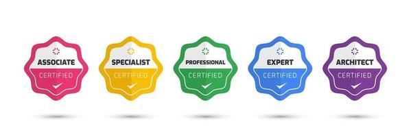 Emblema de certificación digital con diseño de concepto moderno. plantilla de insignia de logotipo certificado. ilustración vectorial. vector