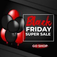 Black friday super sale go shop now vector illustration