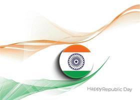 concepto del día de la república india vector