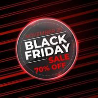 Badge Vector illustration Black Friday red and black background