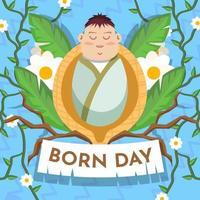 New Baby Born Day vector