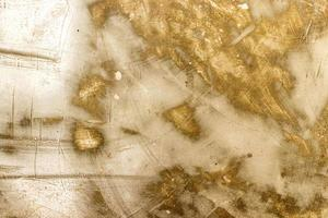 Wall metal white and gold texture background photo