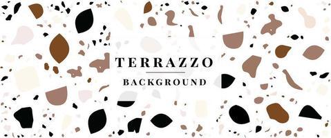 Fondo de terrazo: patrón de baldosas de terrazo fondo abstracto vector gratuito