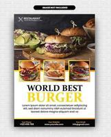 Food Flyer Design vector