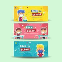 School Activity in New Normal Banner vector