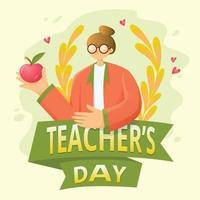 Happy Teacher's Day Illustration vector