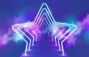 Start Shaped Neon Light vector