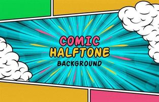 Colorful Comic Half Tone Background vector