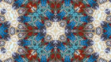 The Colorful Symmetric Movements of a Kaleidoscope