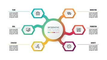 Plantilla de infografía de diagrama de negocios o marketing.
