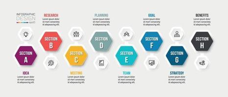plantilla de infografía de concepto de negocio con opción.