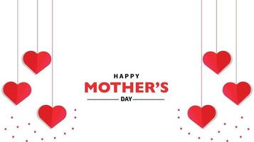 feliz dia de la madre vector de corazon