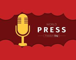 World Press Freedom Day Template vector