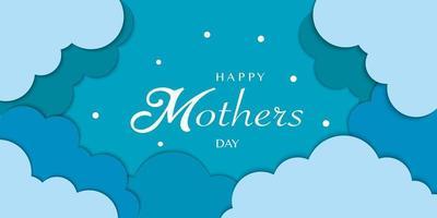 feliz dia de la madre fondo de nube vector