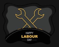 Happy Labour Day Papercut Background vector