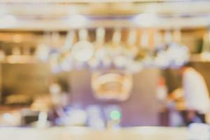 Abstract blur restaurant  interior background - vintage filter photo