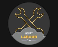 Happy Labour Day Greeting Card vector
