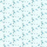Seamless pattern with airplanes and cameras. vector