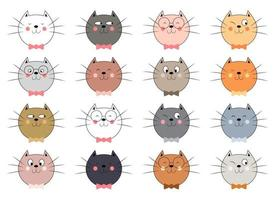 Kitty cat vector design illustration isolated on white background