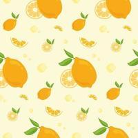 patrón sin fisuras con naranjas. vector