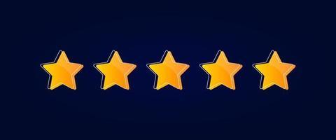 Vector de diseño de calificación de 5 estrellas