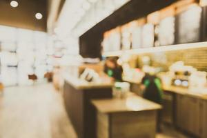 Abstract blur coffee shop cafe interior background photo
