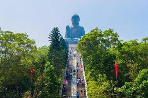 Giant Buddha statue in Hong Kong, China