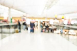 Abstract blur airport background photo
