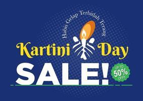 Happy Kartini Day Celebration. Sale Poster vector
