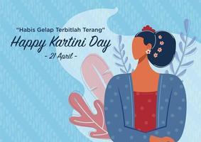 Happy Kartini Day Celebration vector