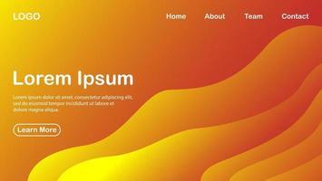 Fondo abstracto moderno con concepto de color naranja degradado vector