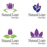 plantilla de logotipo de flores de loto vector