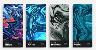 fondo abstracto líquido. manchas de colores de mármol. vector