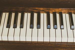 Old vintage piano keys photo