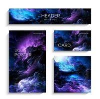Colorful Nebula in Space Background. Deep space. Vector illustration of a space nebula