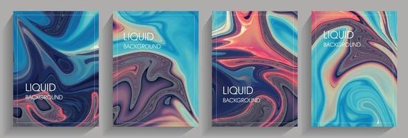Abstract liquid background set vector