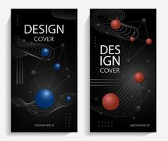 Abstract design with gradient balls vector