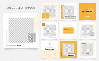 social media template banner blog fashion sale promotion vector