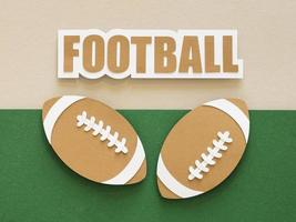 Paper cutout of American footballs