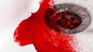 Water and Ink like Blood In The Sink video