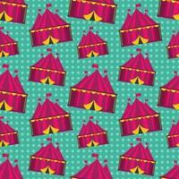 circus tent seamless pattern illustration vector
