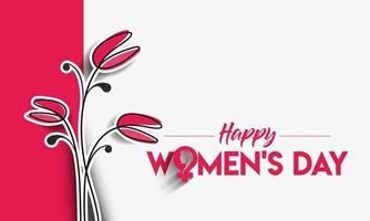 8 march, Happy Women's Day Stylish Typography Text. Vector Illustration
