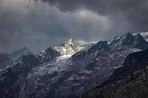 paisajes montañosos panorámicos del Himalaya foto