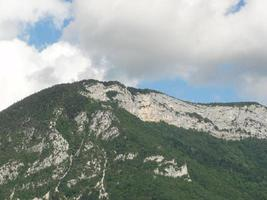 Mountain view from Lake Annecy in France