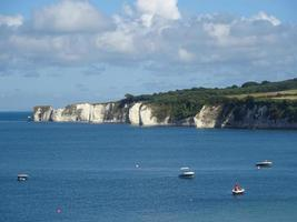 Old Harry Rocks seen from Studland Bay