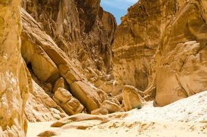 Brown rocky mountains photo