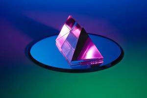 Colorful prism on mirror