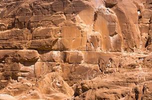 detalle de las caras de la roca foto