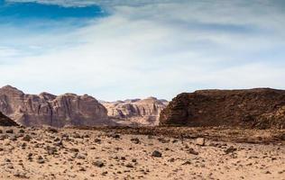 cielo azul sobre un cañón foto