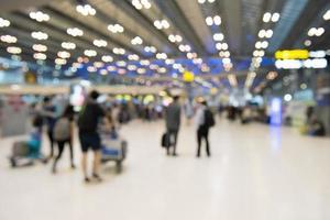 Terminal de fondo borroso abstracto en Tailandia